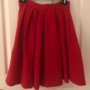BANANA Republic red mid lenght skirt